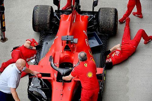 Ferrari cambió motor en sus dos coches tras el problema de Vettel