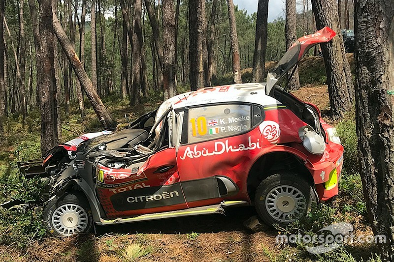 citroen believes car strength saved meeke in crash. Black Bedroom Furniture Sets. Home Design Ideas