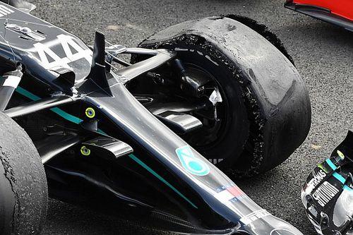ハミルトン、パンクの原因はコース上の破片?「僕のタイヤ管理は完璧だったのに……」