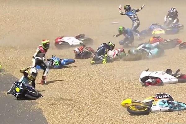 Moto3 Breaking news GALERI: Kecelakaan massal di Moto3 Le Mans 2017