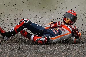 MotoGP Toplijst Detail: Alle foto's van de crash van Marc Marquez