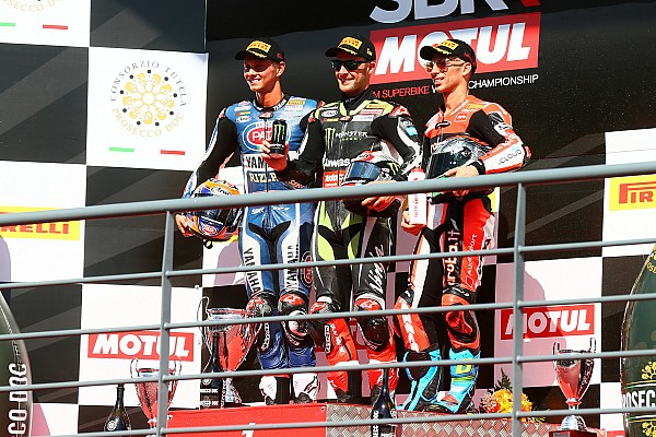 Cuarto doblete de la temporada para Rea y primer podio de Van der Mark con Yamaha