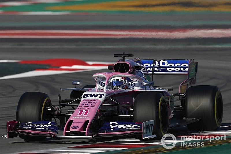 Perez betreurt weinige testkilometers met Racing Point in Barcelona