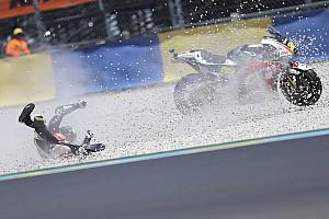 MotoGP Nieuws Crutchlow ontsnapt aan ernstige blessure bij crash in Le Mans