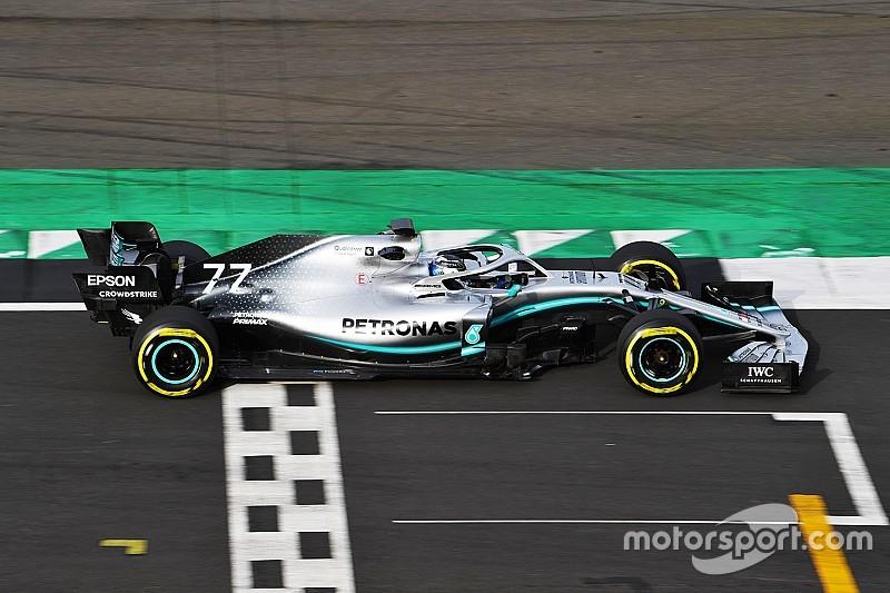 GALERÍA: Así se ve el Mercedes W10 2019 de F1 en la pista
