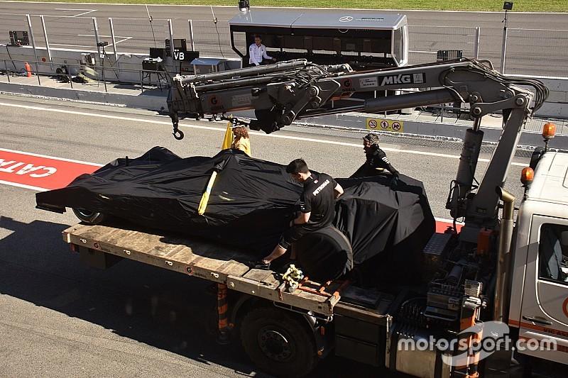 メルセデス、新空力パッケージ投入。しかしトラブルで評価進まず……