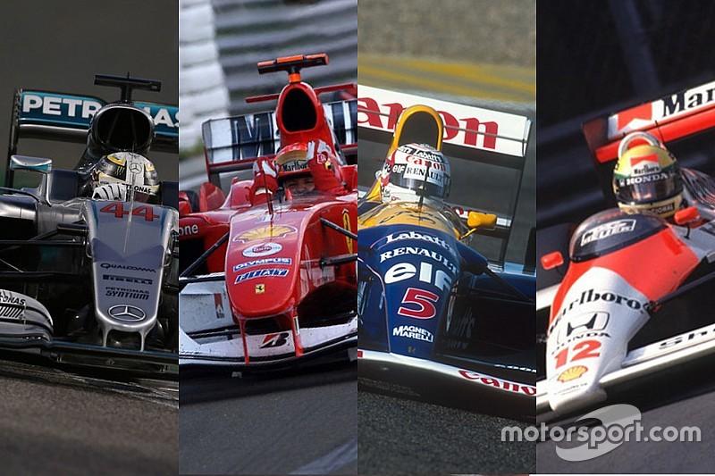 Die erfolgreichsten Formel-1-Autos der Geschichte