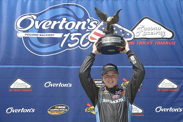 NASCAR Truck Reporte de la carrera En Pocono, Bell conquista su cuarta victoria de 2017