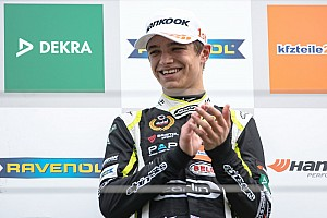 F3-Euro Reporte de la carrera Norris se repone de la sanción en parrilla y gana la tercera manga en Spa