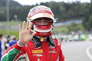FIA F2 Qualifying report Red Bull Ring F2: Leclerc scores fifth straight pole