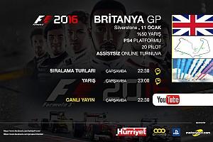 FORMULA 1 LİGİ Son dakika F1 2016 online turnuva: Britanya GP - Canlı Yayın