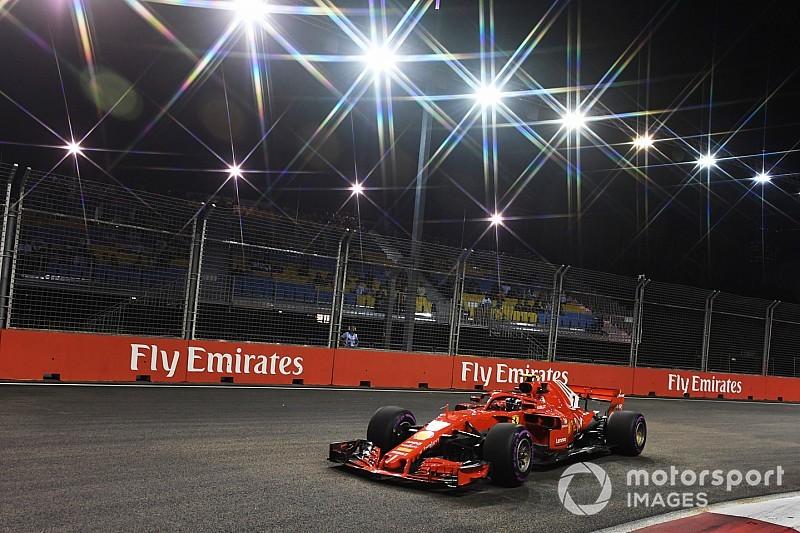 Singapore GP: Raikkonen tops FP2, setback for Vettel