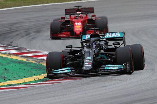 Leclerc tevreden met vierde plek in Spanje, Sainz baalt