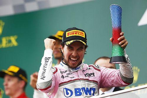 Los ocho podios de Sergio Pérez en F1