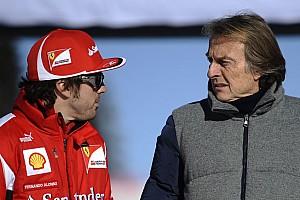 Alonso se burla en Twitter de las posibles críticas de Montezemolo