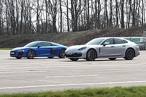 Automotive Breaking news Porsche Panamera Turbo S E-Hybrid fights off Audi R8 in drag race