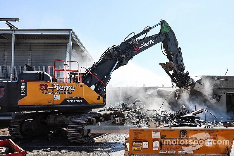 Los boxes de Montreal fueron demolidos para construir nuevas instalaciones