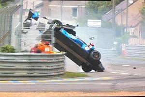 24 heures du Mans Actualités Le crash spectaculaire de Sernagiotto s'est bien terminé