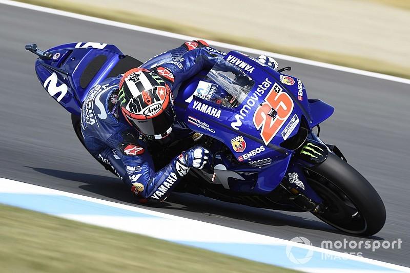 MotoGP, Phillip Island, Libere 1: Vinales davanti alle Ducati, cade Marquez