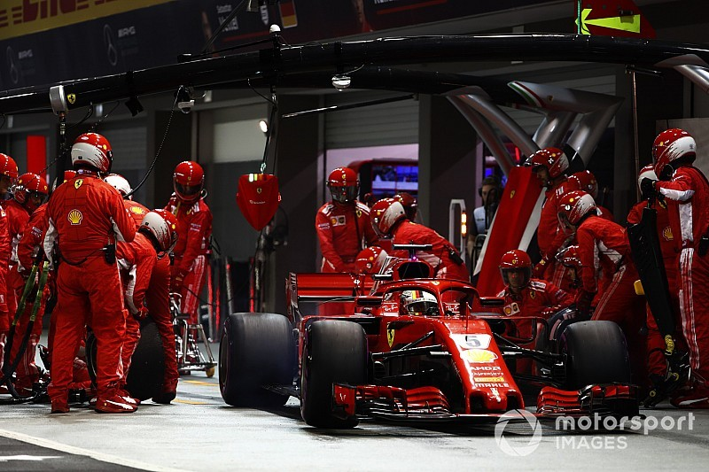 Vettel bela strategi