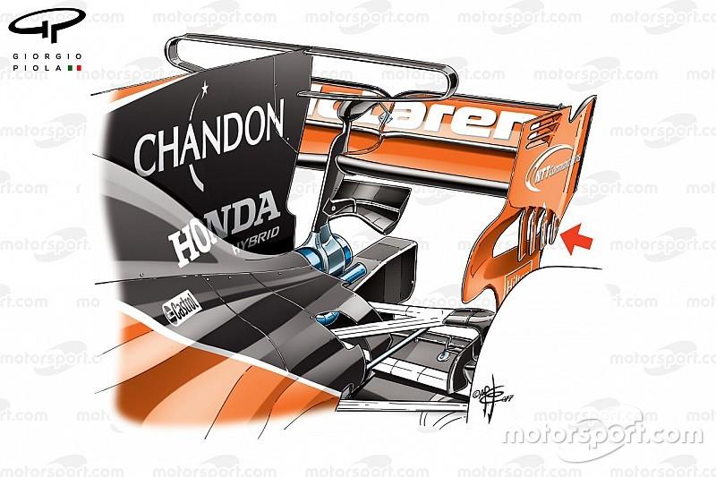 Análisis técnico: la agresividad de McLaren se centra en el T-wing