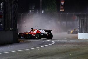 Singapur'daki kaza Vettel'in motoruna hasar vermiş olabilir