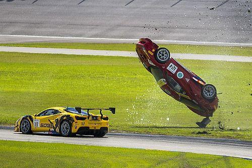 GALERIA: Ferrari capota em acidente em corrida nos EUA