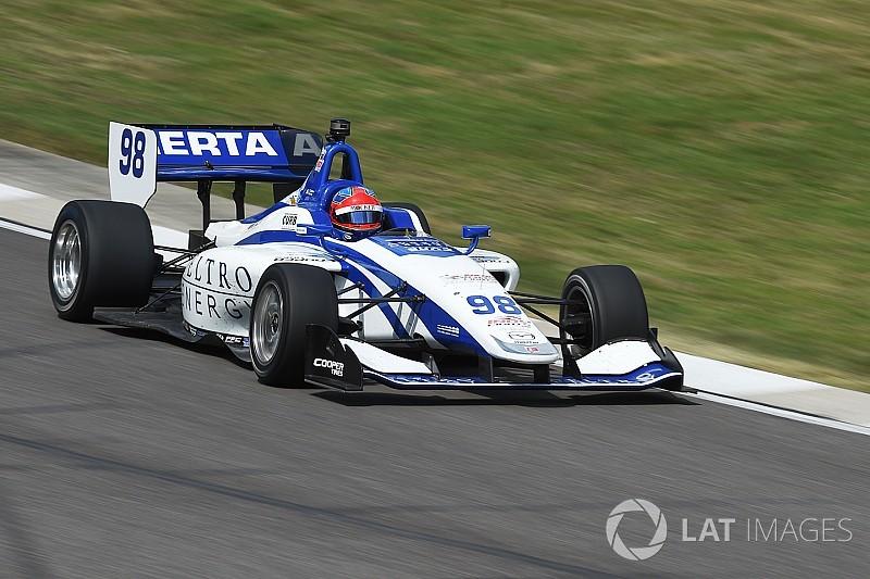 Herta logra la pole para la segunda en Road América y Urrutia en quinto