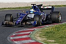Formula 1 Gallery: Sauber-Ferrari C36 on track in Barcelona