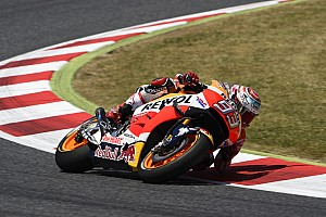 MotoGP Race report Marquez and Pedrosa achieve great and emotional double podium finish in home race