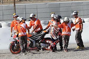 MotoGP 速報ニュース マルケス、FP2のクラッシュに困惑「リヤに好ましくない振動があった」