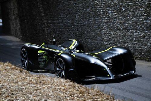 Roborace car completes Goodwood hillclimb