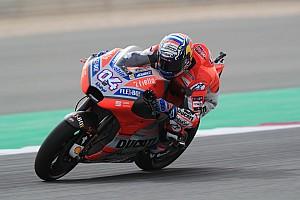 MotoGP Practice report FP1 MotoGP Qatar: Dovizioso ungguli Rossi, Marquez ketiga