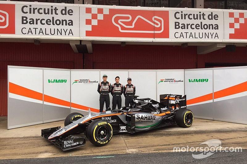 Force India VJM09: resta col muso lungo e le due narici
