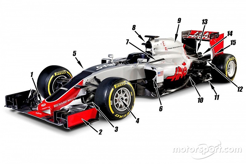 Tech analysis: The 15 major design features of the Haas F1 car