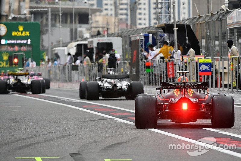 Starting grid GP Azerbaijan 2018