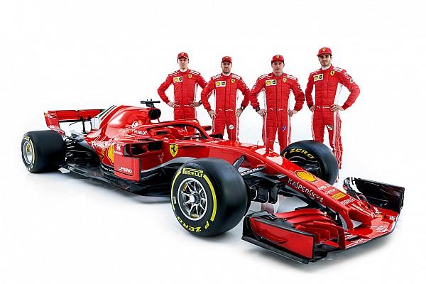 Egy képen a Ferrari összes versenyzője