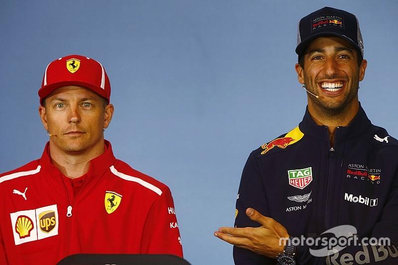 Ricciardo e Hulk se surpreendem com permanência de Kimi