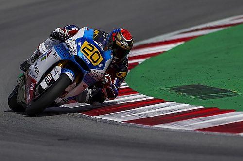 Dimas Ekky Sempat Jatuh saat Latihan Bebas CEV Moto2 Catalunya