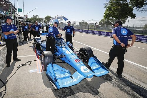 """Johnson: """"Nothing got me ready"""" for Detroit in an IndyCar"""