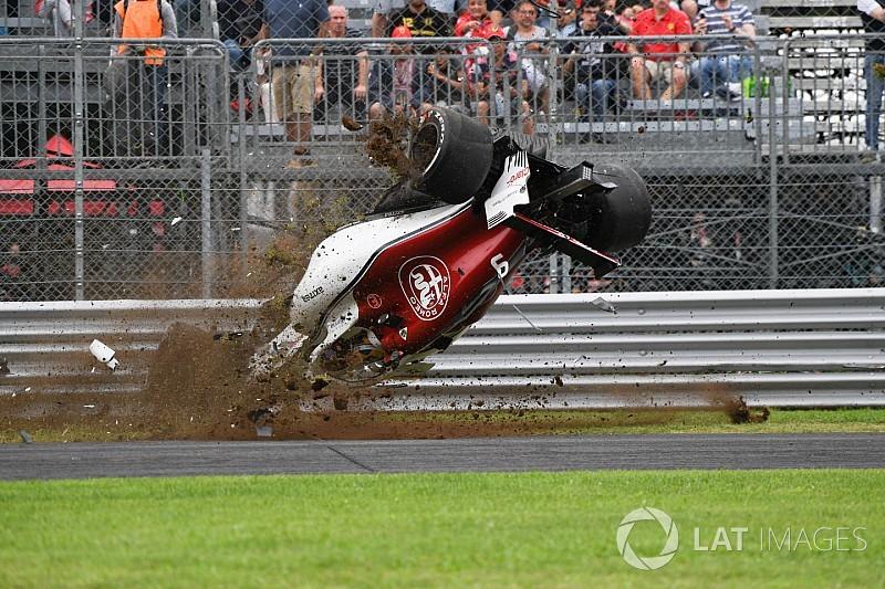 Ericsson estrenará chasis tras el espectacular accidente en los libres