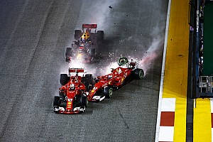 Vettel baffled by first lap Singapore accident