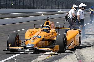 IndyCar Reporte de prácticas Alonso aprovechó la poca actividad en pista para acabar 4º