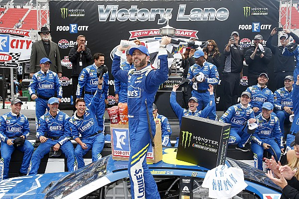 NASCAR Cup Race report Jimmie Johnson goes back-to-back with Bristol win