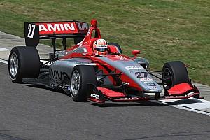 Indy Lights Reporte de pruebas Jamin y Franzoni lideran el test de Road to Indy en el Brickyard