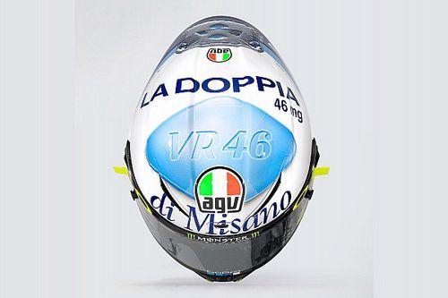 """""""La doppia di Misano"""": ecco il casco speciale di Rossi"""