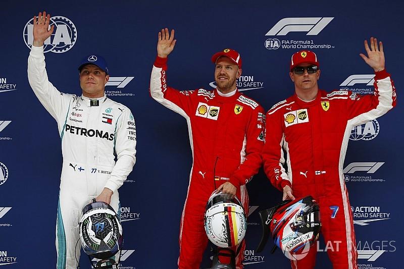La grille de départ du GP de Chine