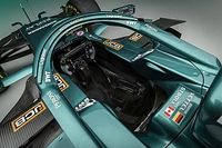 The car Aston Martin begins its new F1 journey with