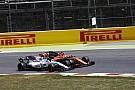 Onboard videón az Alonso-Massa incidens Barcelonából