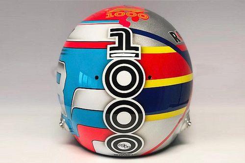 Russell reveals 'half-half' Montoya-inspired helmet for China